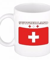 Zwitserse vlag koffiebeker 300 ml